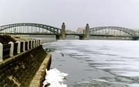 СПб: Охтинский мост